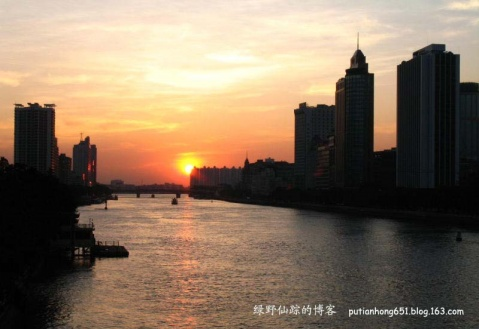 解放橋上看日落 - 绿野仙踪 - 绿野仙踪的博客