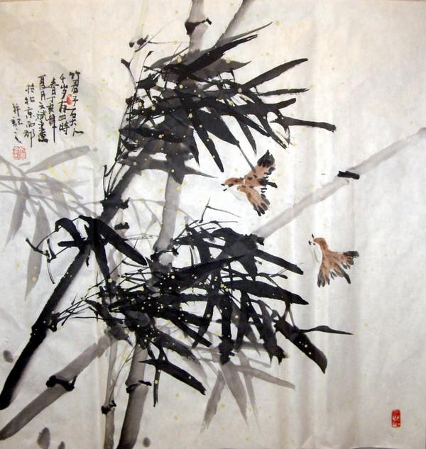 引用 网友书画欣赏(6)——肖文斌国画作品 - 卧虎草堂 - 张子鸿的国画