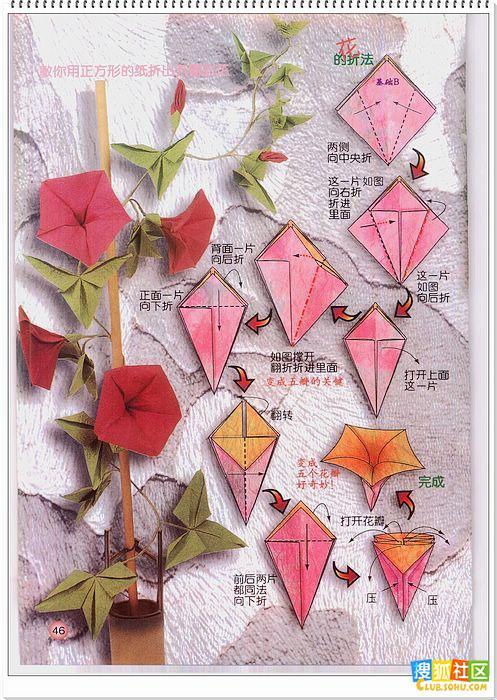 各种花的折纸方法 - 曼珠沙华 - 三途河边的彼岸花