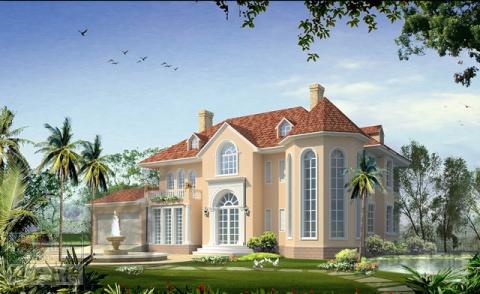 农村房屋外观设计图 三楼房屋外观设计图