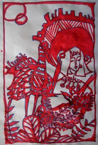 刻纸画《我和大鸟》的创作过程
