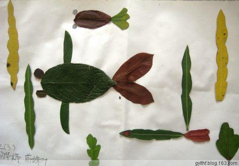 引用 树叶贴画图片