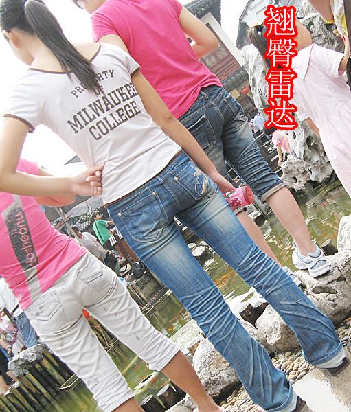 1001号作品:青春少女的牛仔裤紧身臀 街拍雷