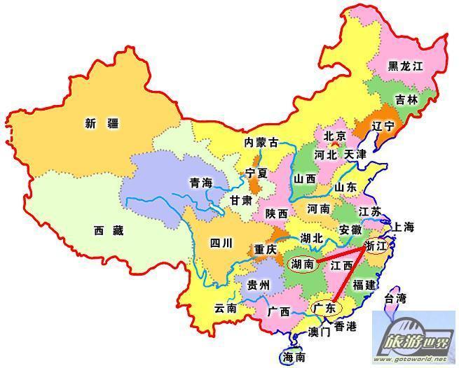 中国各省份名字的由来 - 春雨(一名老兵) - 春之韵 雨中情