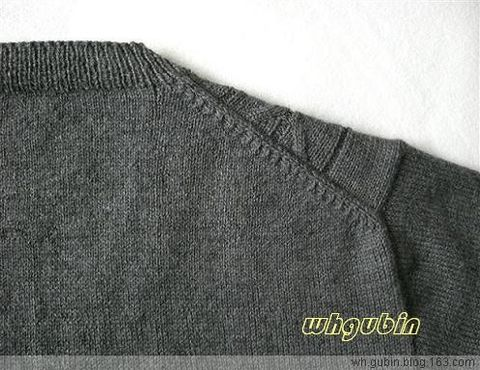 有关后肩部的织法 - whgubin - 我的博客