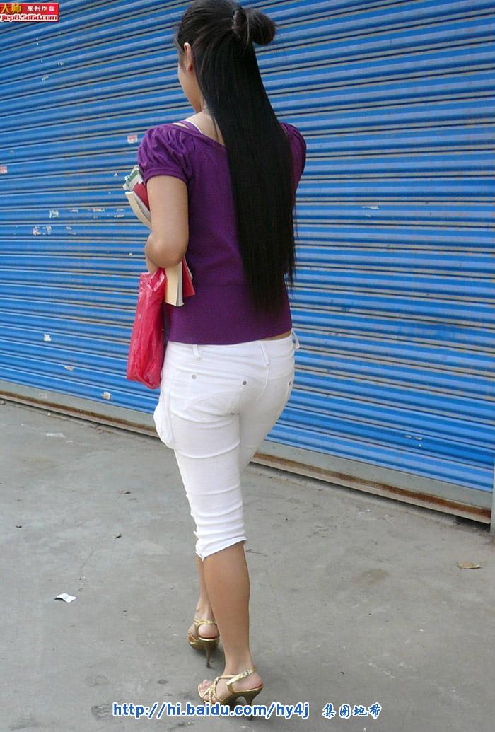 夏日诱惑:紫衣白裤丰臀MM - 煜杰 - 煜杰的博客