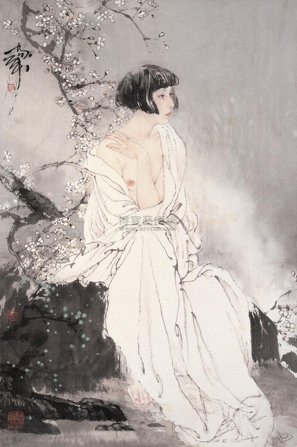 人体画名家何家英 - 月色荷影 - 呼唤远古的风