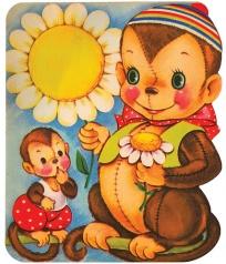 50年代儿童贺卡 - 李二嫂的猪 - 翱翔的板儿砖