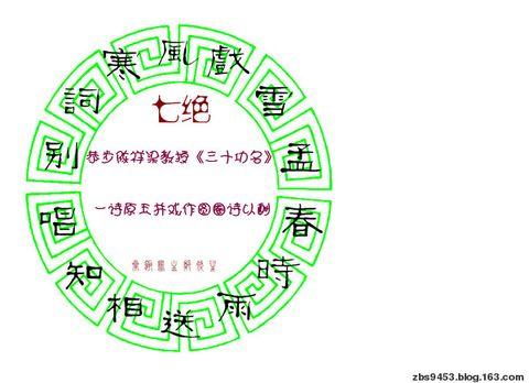 圆圈诗(七绝) - 叠趣庐主 - 叠趣庐主