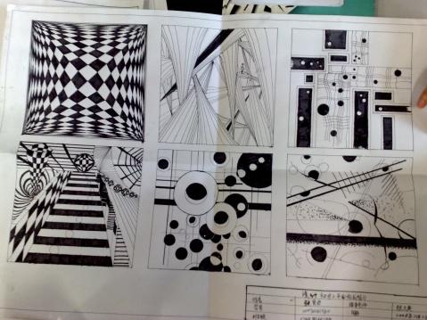 设计作业——点线面体平面构成图片