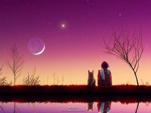 (原创)忆江南·中秋夜(二首) - 蝉翼云朵 - 蝉翼云朵