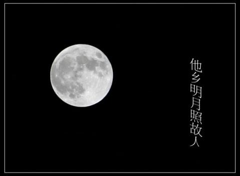今晚的月亮真圆啊!当时明月在