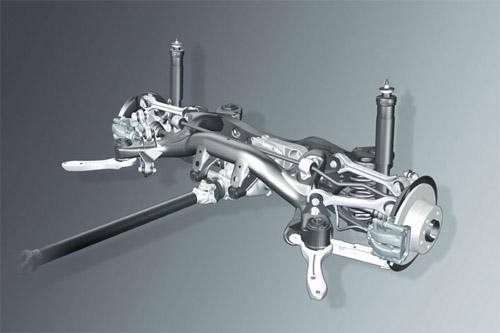 4:宝马1系后悬架采用的五连杆设计是多连杆结构的极致,五连杆式