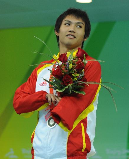 S6级男子100米仰泳颁奖 杨沅润获得银牌(17银) - 永不言败 - 永不言败欢迎您