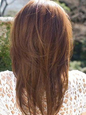 前后耐看发型打造完美背影图片
