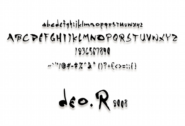 个人60原创,MGS4字体。 - deo.R - Rs