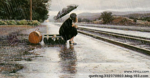 雨中站台 - 云游老道  - 崂山隐士的茅庵