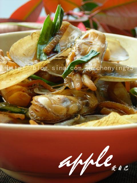 只需5分钟零厨艺也能做出的美味海鲜:葱爆蛏子 - 可可西里 - 可可西里