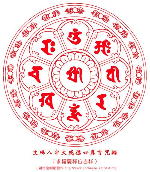 [推荐]【文殊菩薩,八字大威德心真言咒輪 - nfgaoj - 我的博客