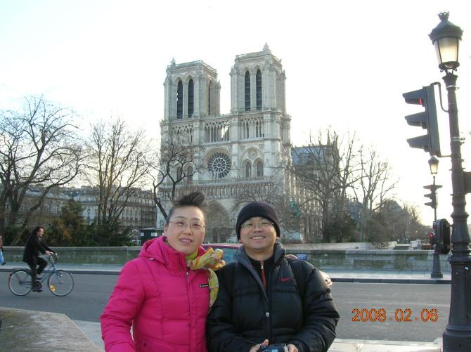 2008年春节欧洲游巴黎圣母院(原创) - 骄阳荷飘 - 骄阳荷飘的博客