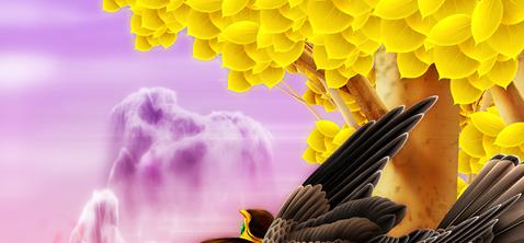 我的插画_御禽师 - 雨恒 - 天空的水痕