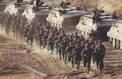 引用 引用 解放军多兵种演练【组图】 - josd29 - 建瓯市第29军战友会