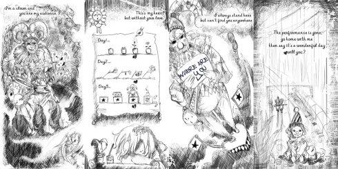 黑白 绘本 小丑爱情 - 啊刹 - My Comic..Up ↗