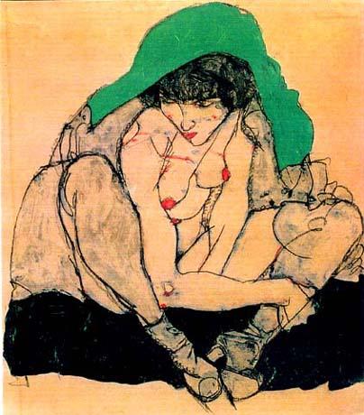 奥地利表现主义画家埃贡·席勒(Egon Schiele) - 文阁绘画工作室 - yangwenge923 的博客