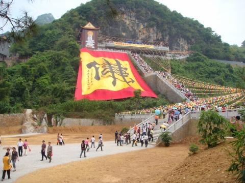 在东华禅寺写世界最大的佛字 - 张克思 - 张克思