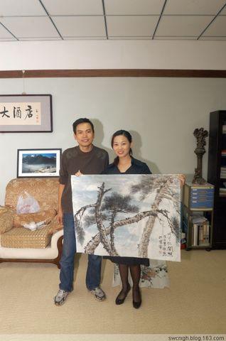 有朋友自远方来 - 许跟虎国画 - 许跟虎国画艺术