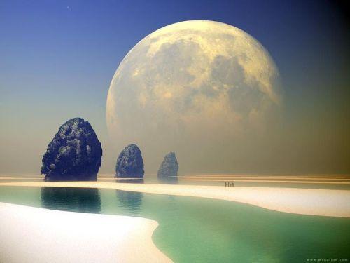 中秋的月 - 深深的海洋 - ping0006的博客