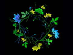 黑色炫彩花纹背景