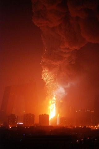 北京中央电视台新大楼北配楼发生大火(视频+组图) - Sailormoon - Sailormoon