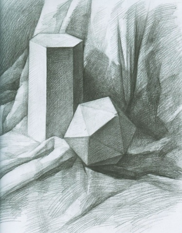 石膏素描几何体作业 - 文章老师 - 大画文章
