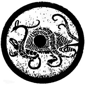 玄武是一种由龟和蛇组合成的一种灵物.