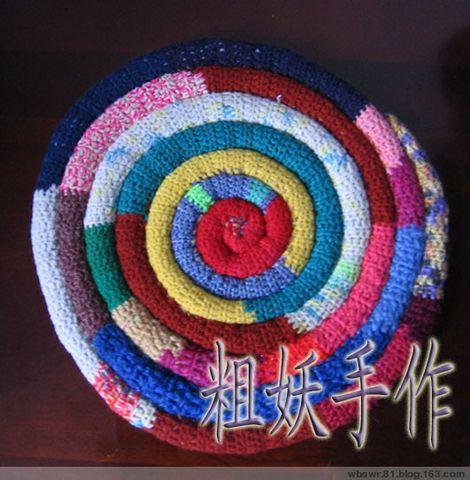 棒棒糖坐垫 - 粗妖 - 爱编织的妖妖