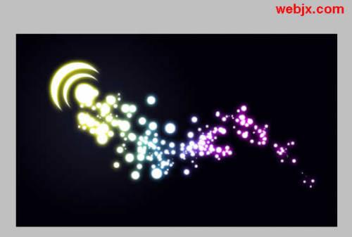 用Photoshop模拟超酷美丽的彩色粒子特效 - 玫瑰夫人 -