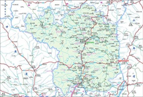 延安地区地图