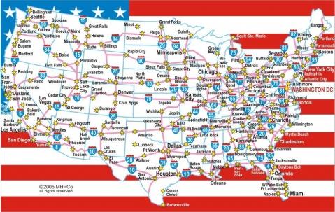 Distribution of Top 150 Bio-Pharma companies in USA - 青山妩媚 - 青山妩媚