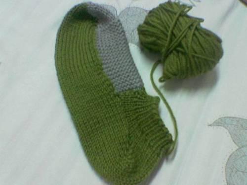 手工编织的毛线袜 - 开心如意 - 开心如意的博客