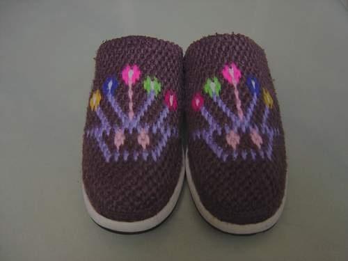 【转载】钩毛线拖鞋的步骤