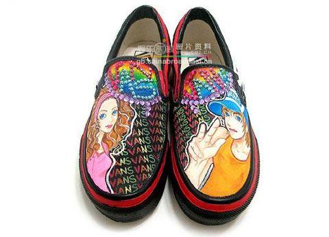 美丽的手绘鞋子