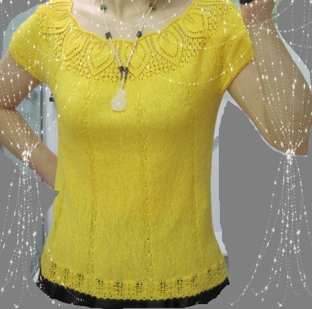 从上往下织---仿活力的园肩衣-心灵的蜗居-搜狐博客 - anne - limil09的博客