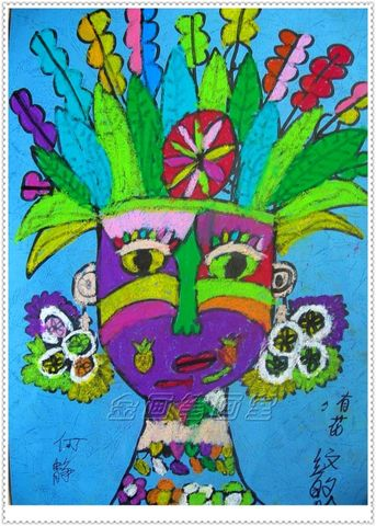 有花纹的脸__印地安人