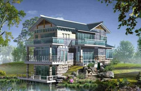 现代别墅外观效果图