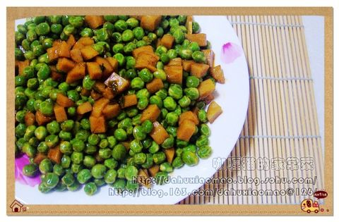 【原】豌豆火腿丁(图) - 咖喱猫 - 咖喱猫的家常菜