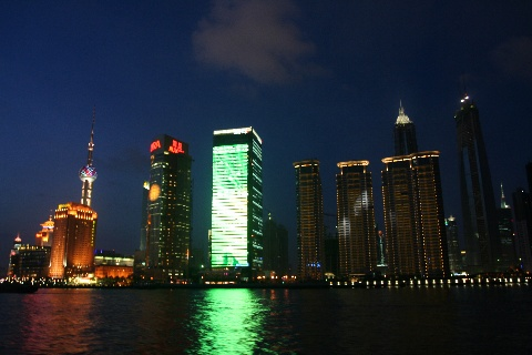 黄埔江夜景  美丽的化身 - 徐百万 - 企业管理园