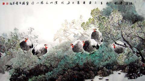 强博的花鸟画作品(12幅)    070 - 勇敢的人 - 中国国际美术品交流与收藏