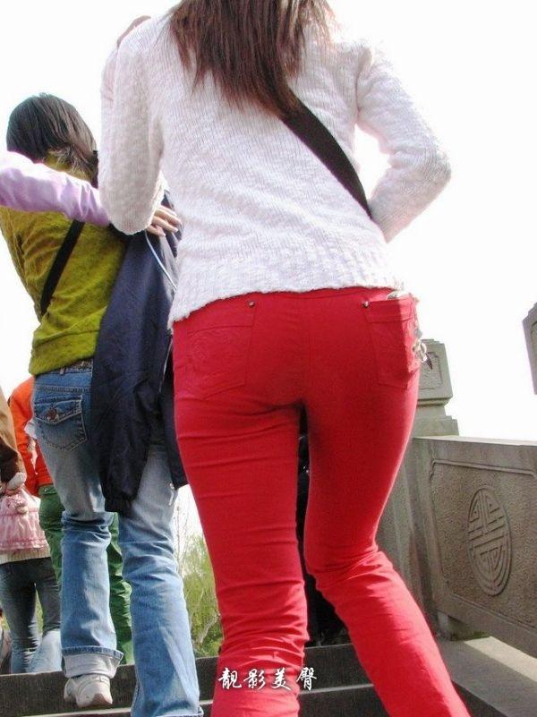 红色的诱惑紧身裤美臀 - 源源 - djun.007 的博客