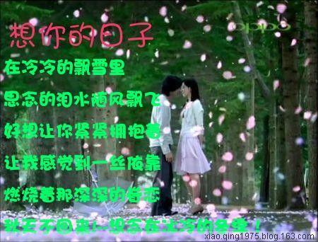 [原创] 在冰冻的夜 谁的心在痛 - ☆秋天不回来☆ - *★*秋天*★不回来◆◆